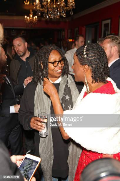 Whoopi Goldberg and Marvel Opara attend as Boisdale's Woman of the Year honours Whoopi Goldberg at Boisdale of Canary Wharf on February 10 2017 in...