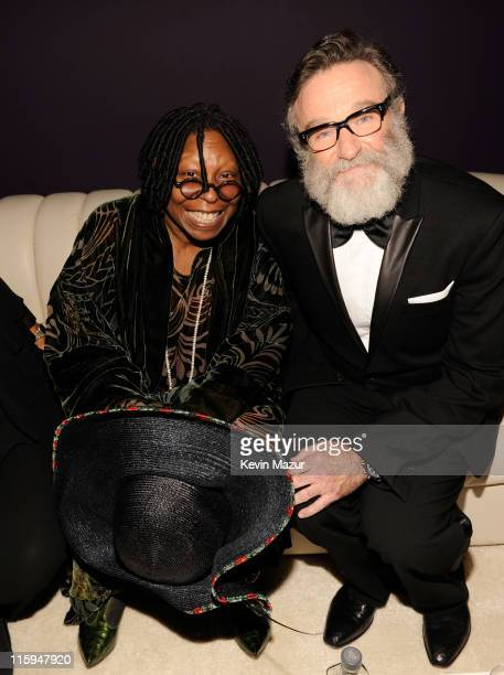 Whoopi Goldberg and Robin Williams attend the 65th Annual Tony Awards at the Beacon Theatre on June 12, 2011 in New York City.