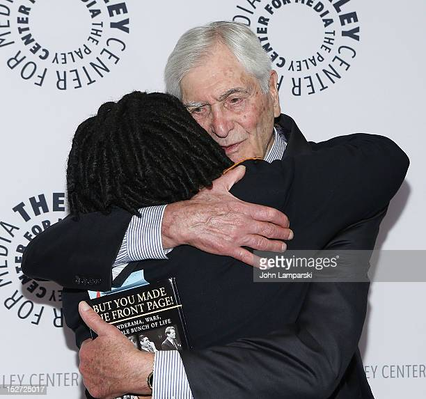 Whoopi Goldberg and Sonny Fox attend Sonny Fox Forty Years In Television A Conversation With Whoopi Goldberg at The Paley Center for Media on...
