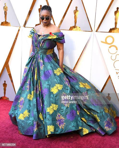 Whoopi Goldberg arrives at the 90th Annual Academy Awards at Hollywood Highland Center on March 4 2018 in Hollywood California