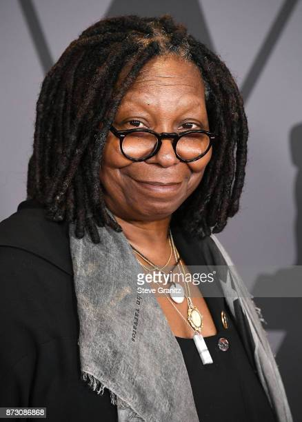 Whoopi Goldberg arrives at the Academy Of Motion Picture Arts And Sciences' 9th Annual Governors Awards at The Ray Dolby Ballroom at Hollywood...