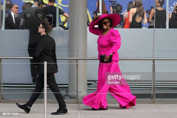 Whoopi Goldberg arrives for the 2018 CFDA Fashion Awards at Brooklyn Museum on June 4 2018 in New York City
