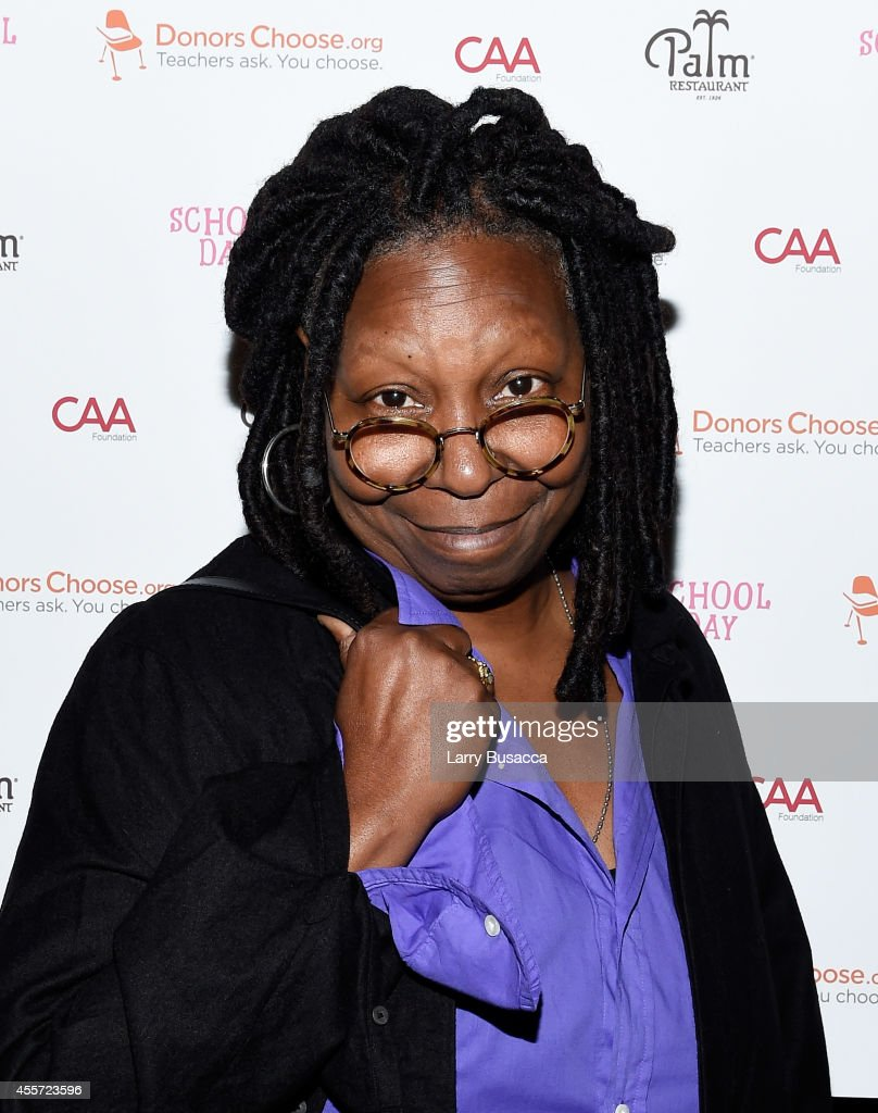Whoopi Goldberg attends CAA Foundation's School Day event benefiting donorschoose.org at The Palm One on September 18, 2014 in New York City.