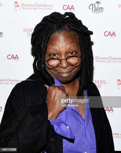 Whoopi Goldberg attends CAA Foundation's School Day event benefiting donorschooseorg at The Palm One on September 18 2014 in New York City