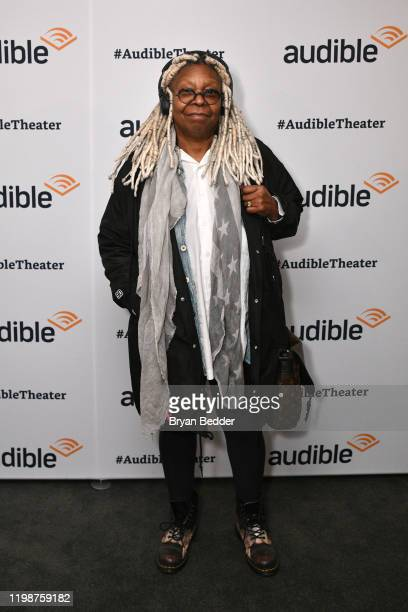 """Whoopi Goldberg attends Common's """"Bluebird Memories - A Journey Through Lyrics & Life"""" hosted by Audible at the Minetta Lane Theatre on January 10,..."""