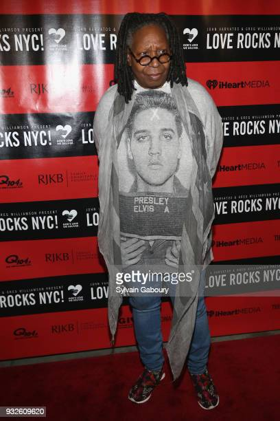 Whoopi Goldberg attends Love Rocks NYC Concert benefiting God's Love We Deliver Red Carpet at Beacon Theatre on March 15 2018 in New York City