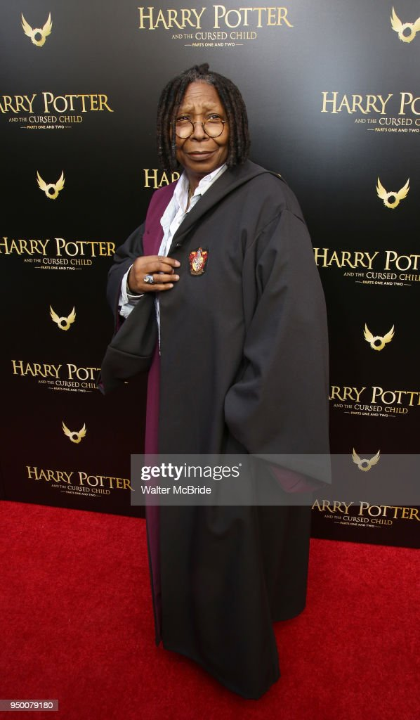 Whoopi Goldberg attends the Broadway opening day performance of 'Harry Potter and the Cursed Child Parts One and Two' at The Lyric Theatre on April 22, 2018 in New York City.