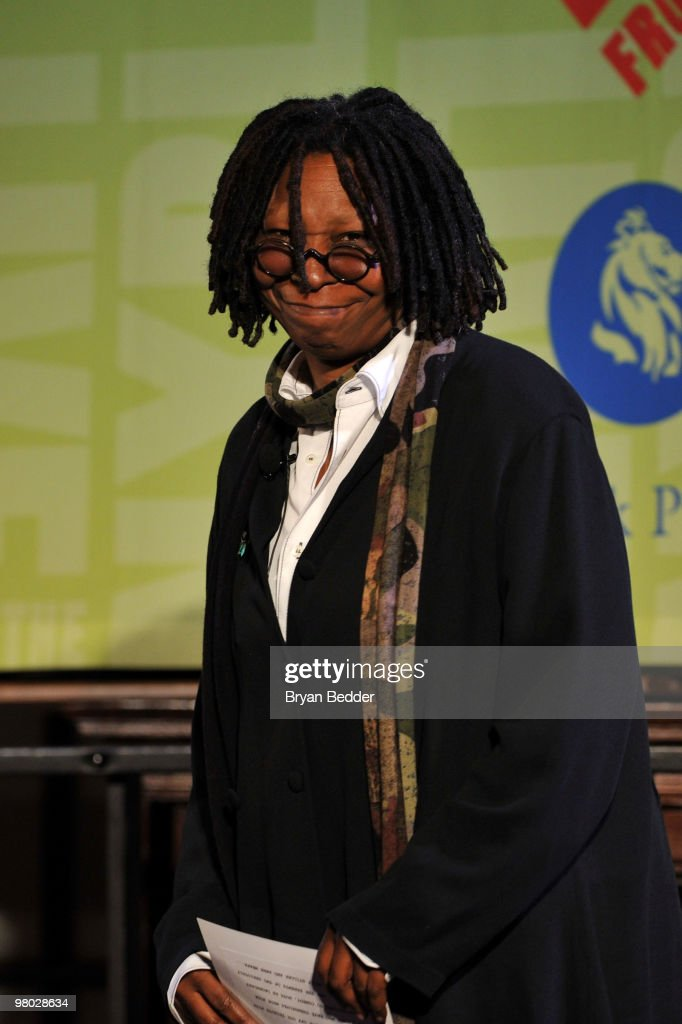 Whoopi Goldberg attends the George Carlin Tribute hosted by Whoopi Goldberg at the New York Public Library - Celeste Bartos Forum on March 24, 2010 in New York City.