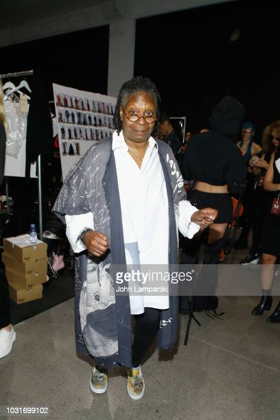 Whoopi Goldberg attends the Hogan McLaughlin front Row during New York Fashion Week: The Shows at Gallery II at Spring Studios on September 11, 2018...