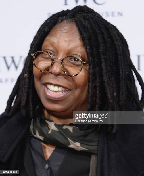 Whoopi Goldberg attends the IWC Schaffhausen and Tribeca Film Festival 'For the Love of Cinema' private dinner at Urban Zen on April 17 2014 in New...