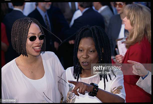 Whoopi Goldberg attends the premiere of her 1995 film Boys on the Side with her daughter Alex Martin