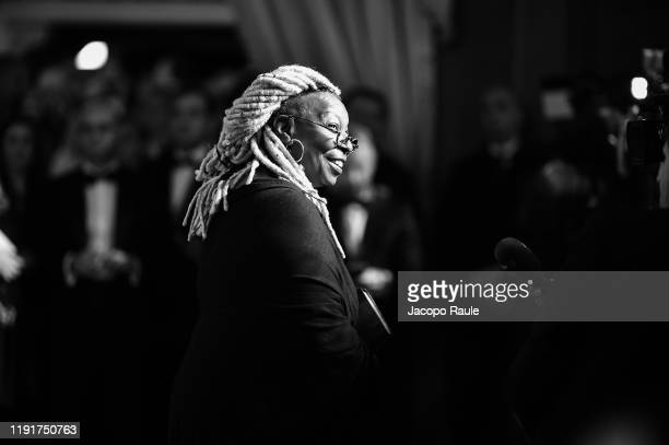 """Whoopi Goldberg attends the presentation of the Pirelli 2020 Calendar """"Looking For Juliet"""" at Teatro Filarmonico on December 03, 2019 in Verona,..."""