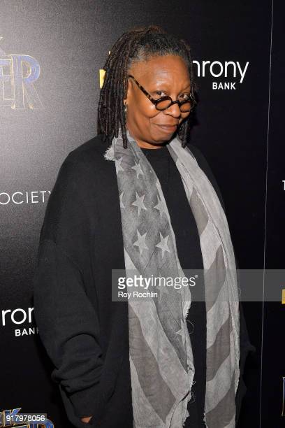 Whoopi Goldberg attends the screening of Marvel Studios' 'Black Panther' hosted by The Cinema Society on February 13 2018 in New York City