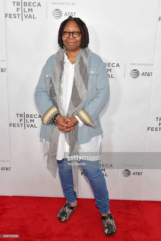 Whoopi Goldberg attends the Shorts Program: The History of White People in America during the 2018 Tribeca Film Festival at Regal Battery Park 11 on April 21, 2018 in New York City.