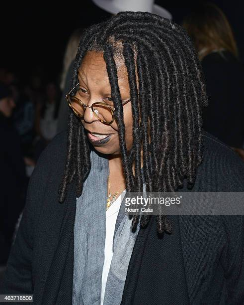 Whoopi Goldberg attends the Skingraft fashion show during Mercedes-Benz Fashion Week Fall 2015 at The Pavilion at Lincoln Center on February 17, 2015...