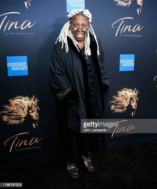 """Whoopi Goldberg attends """"Tina - The Tina Turner Musical"""" opening night at Lunt-Fontanne Theatre on November 07, 2019 in New York City."""