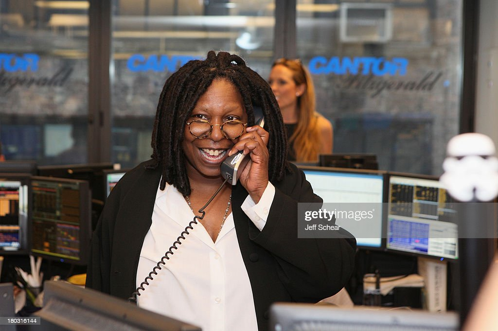 Whoopi Goldberg fundraises at the Annual Charity Day Hosted By Cantor Fitzgerald And BGC at the Cantor Fitzgerald Office on September 11, 2013 in New York, United States.