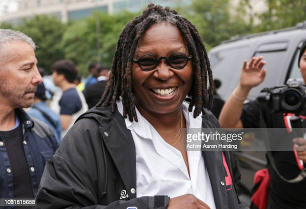Whoopi Goldberg is seen at the Coach 1941 show on the street during New York Fashion Week on September 11 2018 in New York City