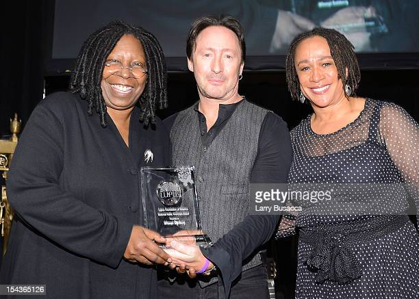 Whoopi Goldberg Julian Lennon and S Epatha Merkerson attend Lupus Foundation of America Butterfly Gala 2012 at Gotham Hall on October 18 2012 in New...