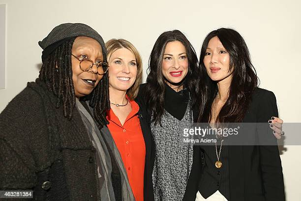 Whoopi Goldberg Nicolle Wallace Stacy London and Marissa Webb attend the rehearsal before Marissa Webb runway show during MADE Fashion Week Fall 2015...