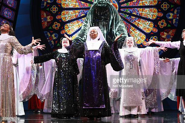 Whoopi Goldberg on Stage for The Sister Act: The Musical Cast Change on August 10, 2010 in London, England.