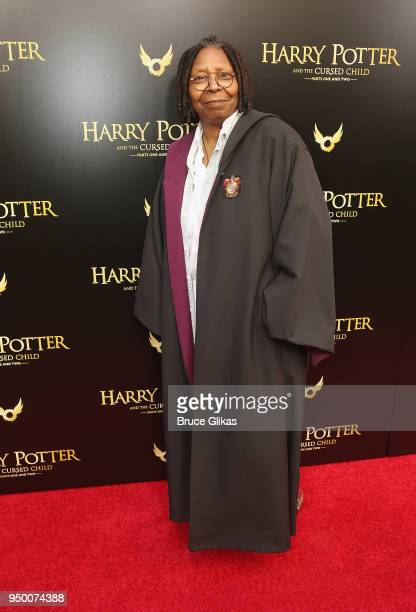 Whoopi Goldberg poses at 'Harry Potter and The Cursed Child parts 1 2' on Broadway Opening Night at The Lyric Theatre on April 22 2018 in New York...
