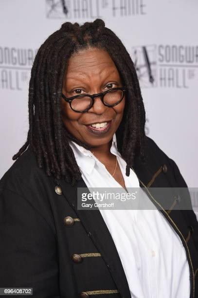Whoopi Goldberg poses backstage at the Songwriters Hall Of Fame 48th Annual Induction and Awards at New York Marriott Marquis Hotel on June 15, 2017...