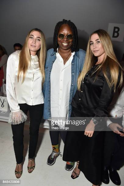 Whoopi Goldberg poses with artists Lexi Kaplan and Allie Kaplan at Vivienne Hu fashion show during New York Fashion Week The Shows at Gallery 3...