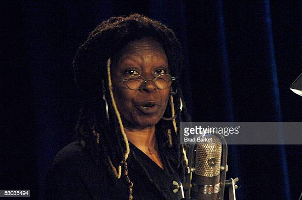 Whoopi Goldberg speaks at the Anne Frank 75th Birthday Tribute at Pier 60 Chelsea Piers on June 7 2005 in New York City