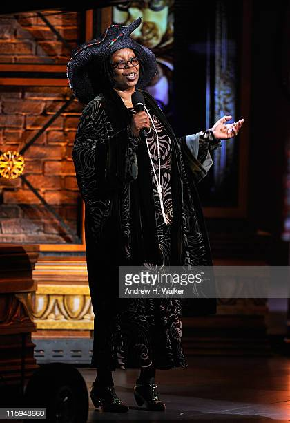 Whoopi Goldberg speaks on stage during the 65th Annual Tony Awards at the Beacon Theatre on June 12 2011 in New York City