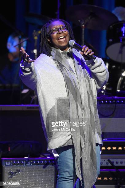 Whoopi Goldberg speaks onstage at the Second Annual LOVE ROCKS NYC A Benefit Concert for God's Love We Deliver at Beacon Theatre on March 15 2018 in...
