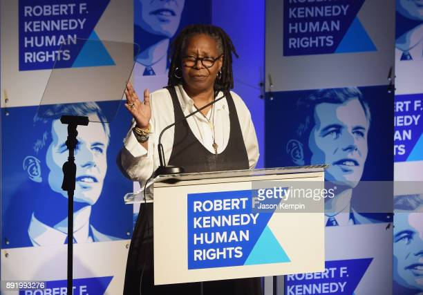 Whoopi Goldberg speaks onstage during Robert F Kennedy Human Rights Hosts Annual Ripple Of Hope Awards Dinner on December 13 2017 in New York City