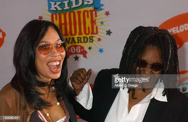 Whoopi Goldberg with daughter Alex Martin during Nickelodeon's 19th Annual Kids' Choice Awards Arrivals at Pauley Pavilion in Westwood California...