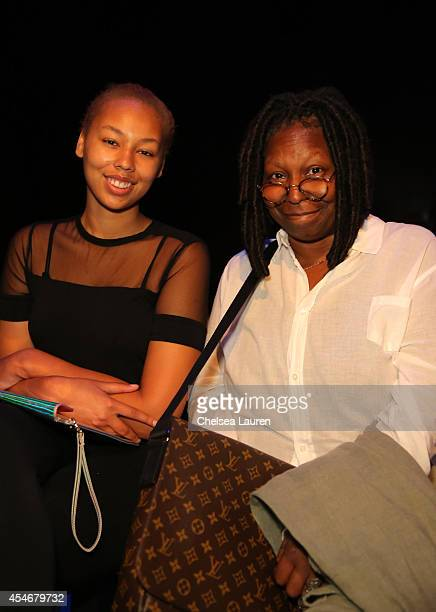 Whoopi Goldberg with granddaughter Jerzey Dean attend the Stella Nolasco fashion show during MercedesBenz Fashion Week Spring 2015 at The Pavilion at...