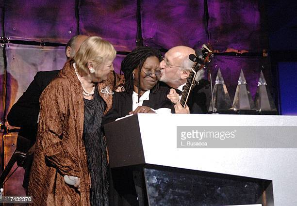 Whoopi Goldberg with Paul Stookey Mary Travers and Peter Yarrow of Peter Paul and Mary honorees