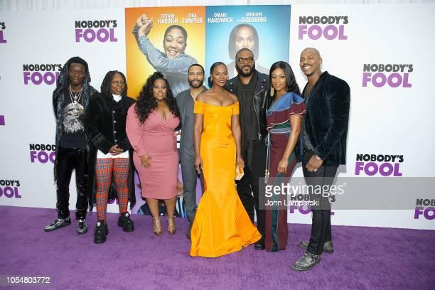 Whoopie Goldberg Amber Riley Omari Hardwick Tika Sumpter Tyler Perry Tiffany Haddish Mehcad Brooks and guest attend 'Nobody's Fool' New York Premiere...