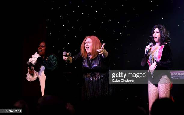 Whoppi Goldberg impersonator Bettina Williams of Texas Adele impersonator Andrea Tyler of Florida and Katy Perry impersonator Bonnie Kilroe of...