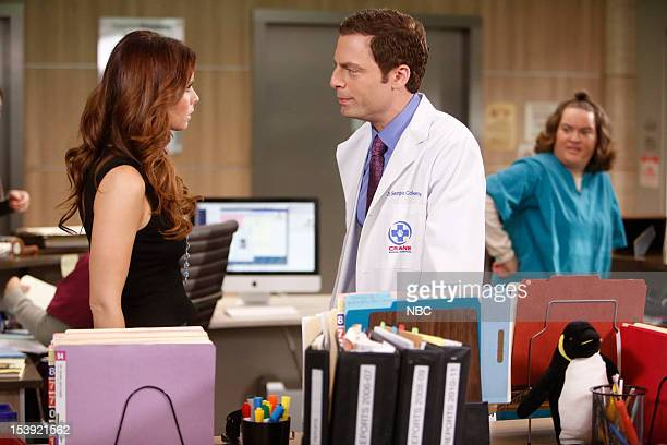 """Who's Afraid of Virginia Coleman"""" Episode 106 -- Pictured: JoAnna Garcia Swisher as Dorothy Crane, Justin Kirk as Dr. George Coleman, Betsy Sodaro as..."""
