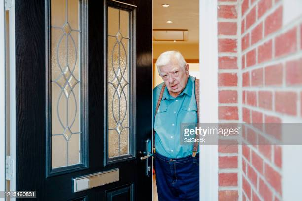 who's that knocking at my door? - door stock pictures, royalty-free photos & images