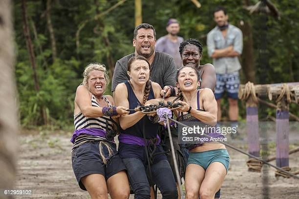 Who's the Sucker at the Table Sunday Burquest Jessica Lewis Bret LaBelle Lucy Huang and Ciandre Taylor on the fourth episode of SURVIVOR Millennials...