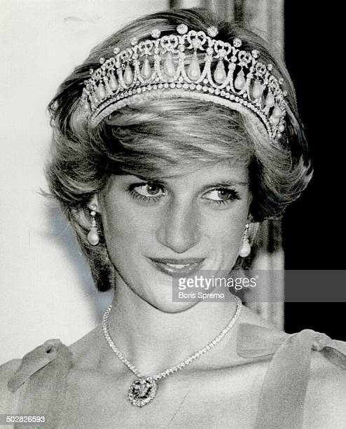 Who's who The real Diana Princess of Wales is on the left in a diamond tiara and necklace greeting Canadian dignitaries in the reception line at...