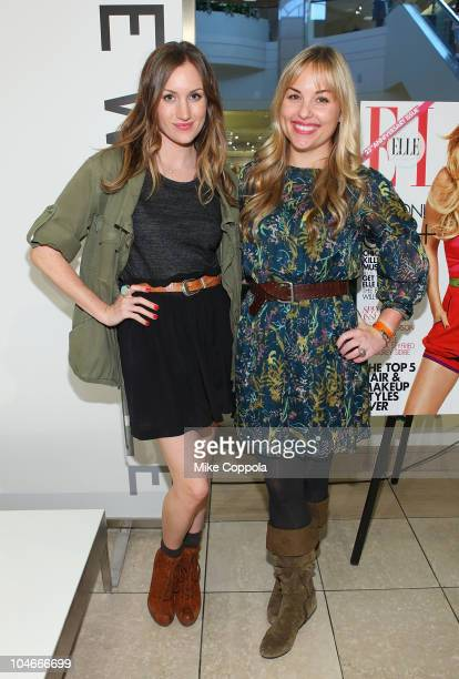 WhoWhatWearcom cofounders Katherine Power and Hillary Kerr attend the Nordstrom Nine West and Who What Wear event on October 2 2010 in Paramus New...