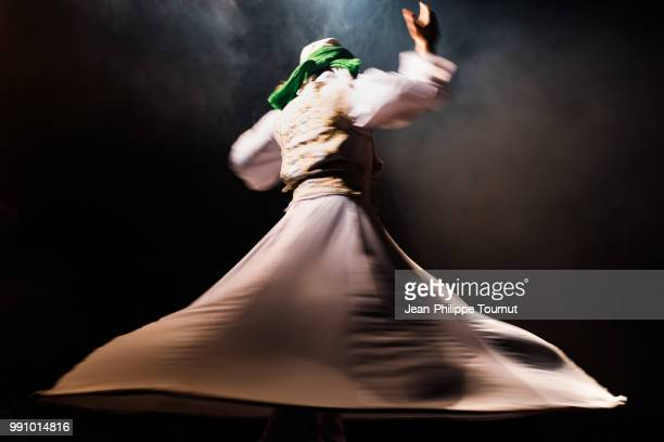 whriling dervish dancer - sufism stock photos and pictures