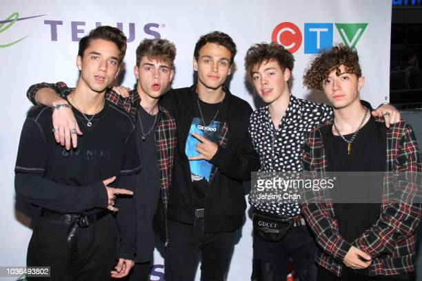 Why Don't We arrives to WE Day Toronto and the WE Carpet at Scotiabank Arena on September 20 2018 in Toronto Canada