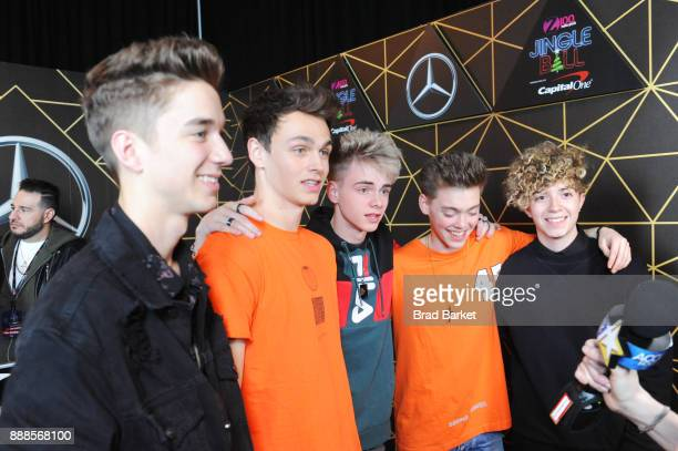 Why Don't We attends the Z100's Jingle Ball 2017 backstage on December 8 2017 in New York City