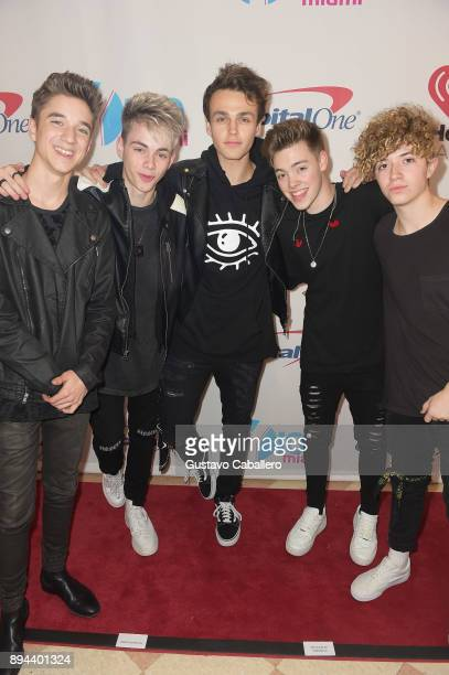 Why Don't We attends Y100's Jingle Ball 2017 at BBT Center on December 17 2017 in Sunrise Florida