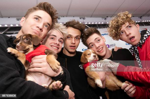 Why Don't We make a red carpet appearance ahead of the Q102's iHeartRadio Jingle Ball 2017 at the Wells Fargo Center in Philadelphia PA on December 6...