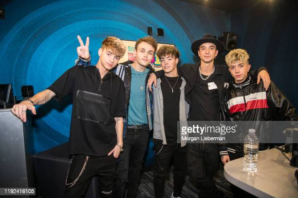 Why Don't We members Corbyn Besson Jonah Marais Zach Herron Daniel Seavey and Jack Avery at SiriusXM Hollywood Studio on December 06 2019 in Los...