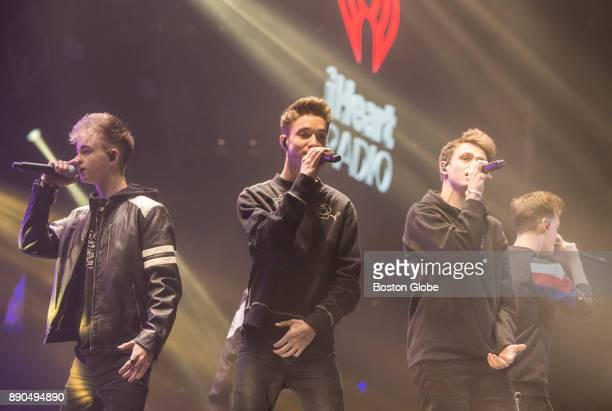 Why Don't We perform during the Kiss 108 Jingle Ball concert at TD Garden in Boston on Dec 10 2017