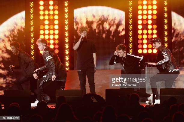 Why Don't We perform onstage during 1035 KISS FM's Jingle Ball 2017 at Allstate Arena on December 13 2017 in Rosemont Illinois